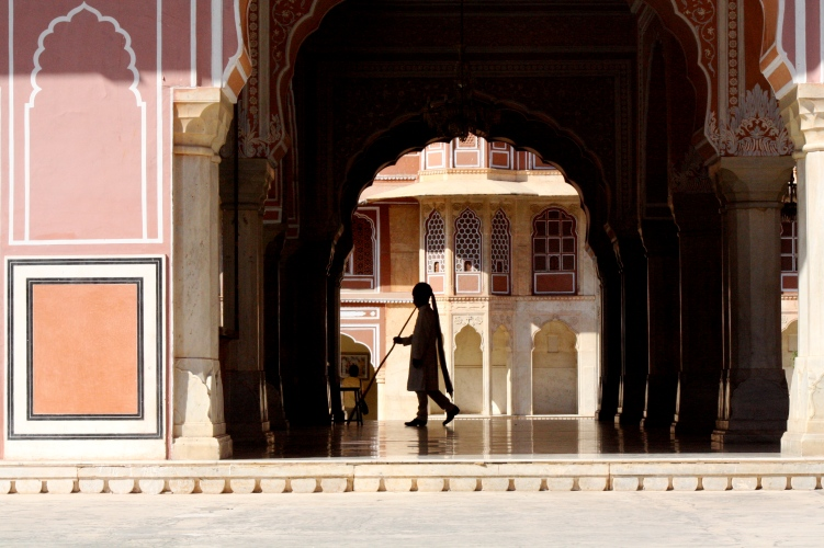 India - man in archway